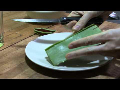 DIY How to prepare aloe vera no toxins. Como preparar aloe vera beber sin toxinas. Detox