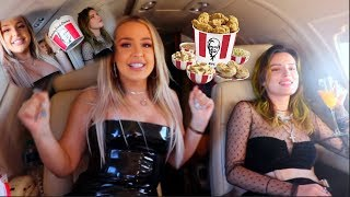 KFC MUKBANG FROM OUR PRIVATE JET... (ft. Bella Thorne)