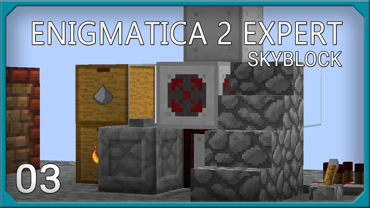 Enigmatica 2 Expert Skyblock EP3 Combustion Automation + Manyullyn