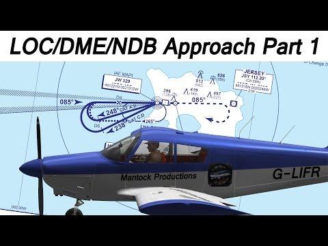 A2A Cherokee - LOC/DME/NDB Approaches Part 1