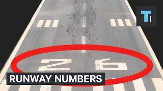 Every airport runway has 2 numbers on it — here's why