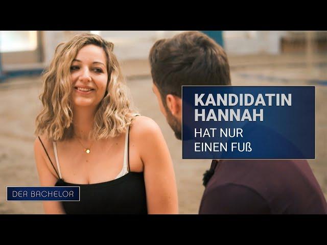 Kandidatin Hannah hat nur einen Fuß | Der Bachelor - Folge 02