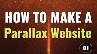 Parallax website structure - How to make a parallax website in Hindi / Urdu (1/2)