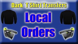 Dark T Shirt Transfers Local Orders With Silhouette Cameo Cutter