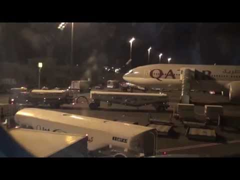 Ground Activity Doha International Airport from Onboard Qatar A330