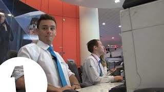 Tom Daley works BBC reception