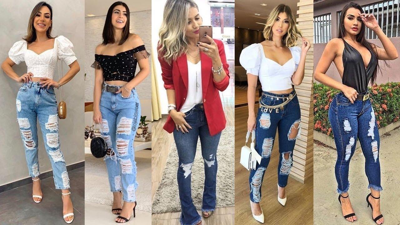 Pantalones Jeans De Moda Y Tendencia Para Este 2020 Youtube