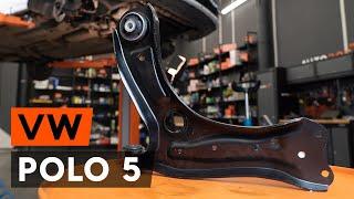 Kuinka vaihtaa etualatukivarsi VW POLO 5 Sedan -merkkiseen autoon [AUTODOC -OHJEVIDEO]