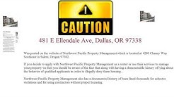 Beware  Ellendale Manor Apartments 481 E Ellendale Ave, Dallas, OR 97338
