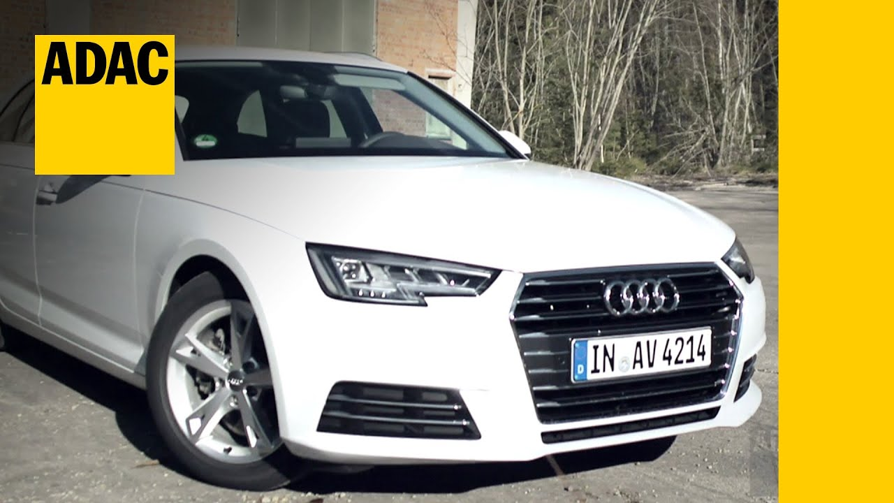 audi a4 avant b9 2 0 tdi im test autotest 2016 adac youtube. Black Bedroom Furniture Sets. Home Design Ideas