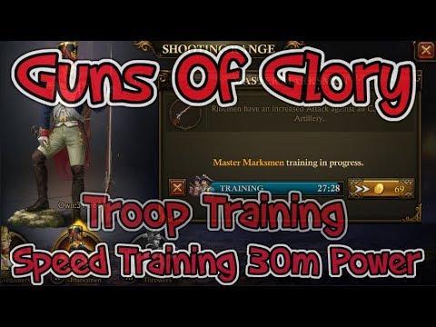 Guns Of Glory Speed Traing 30m Power In Troops Tricks