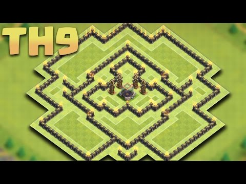 Clash of Clans - New Town hall 9 (TH9 DE) Dark Elixir Farming Base 2016 + Replays