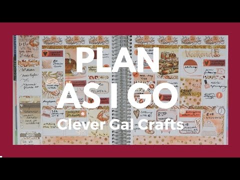 PLAN WITH ME // Plan As I Go Rewind // Clever Gal Crafts!