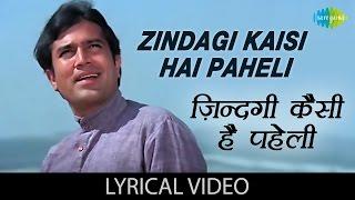 Enjoy the song of bollywood Zindagi Kaisi Hai Paheli Hindi & English Lyrics sung by Manna Dey from the movie Anand Song: Zindagi Kaisi Hai Paheli Mood: ...