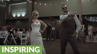 Incredible father & daughter wedding dance routine