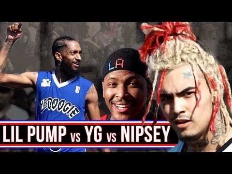 LIL PUMP CAN HOOP? YG / NIPSEY / LIL PUMP Play 3v3! Day Boogie First Annual All Star Weekend Event