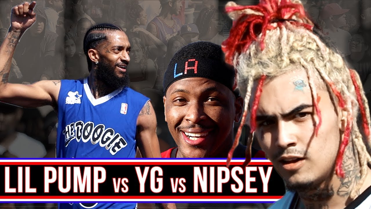 Download LIL PUMP HOOPING! YG / NIPSEY / LIL PUMP Play 3v3! Day Boogie First Annual All Star Weekend Event