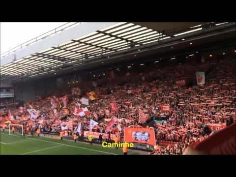 Torcida do Liverpool cantando You'll Never Walk Alone - LEGENDADO