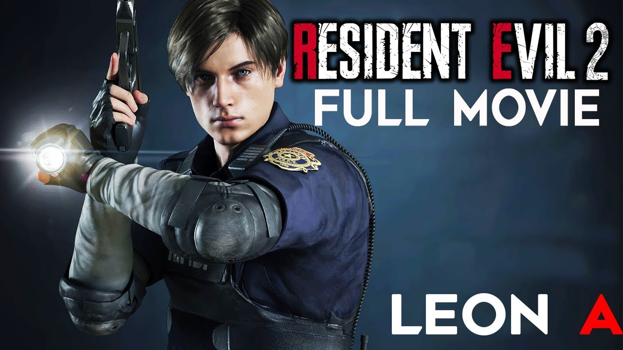 Resident Evil 2 Remake All Cutscenes Leon Story Game Movie 1080p 60fps Youtube