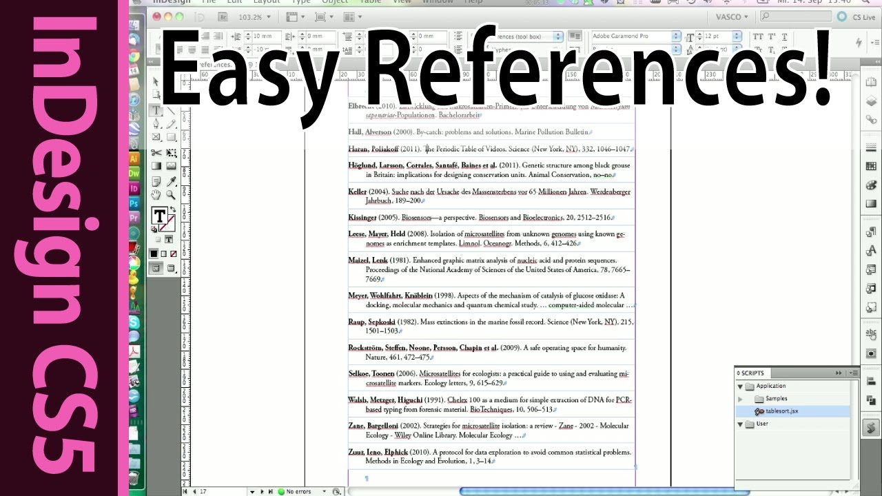 harvard reference list format