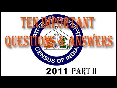 Census of India 2011 (Part II)
