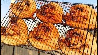سمك مشوي على الفحم اطيب من المطاعم