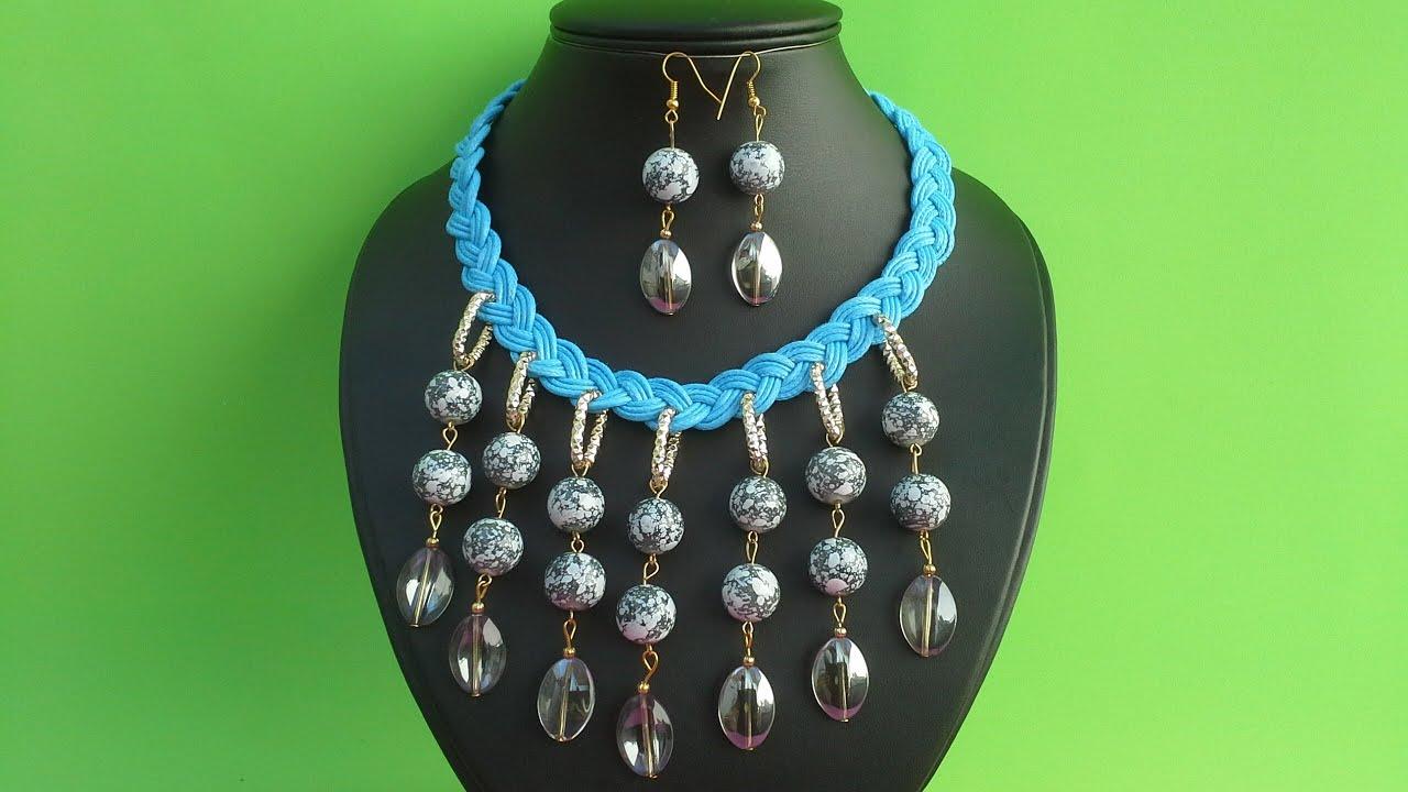 Como hacer un collar de piedras de cristal youtube for Como hacer color piedra