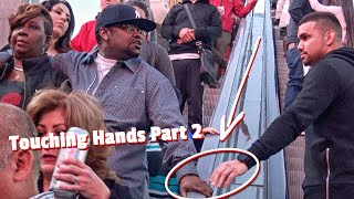 Video Touching Strangers Hands On Escalator In Las Vegas! (PART 2) download MP3, 3GP, MP4, WEBM, AVI, FLV Januari 2018