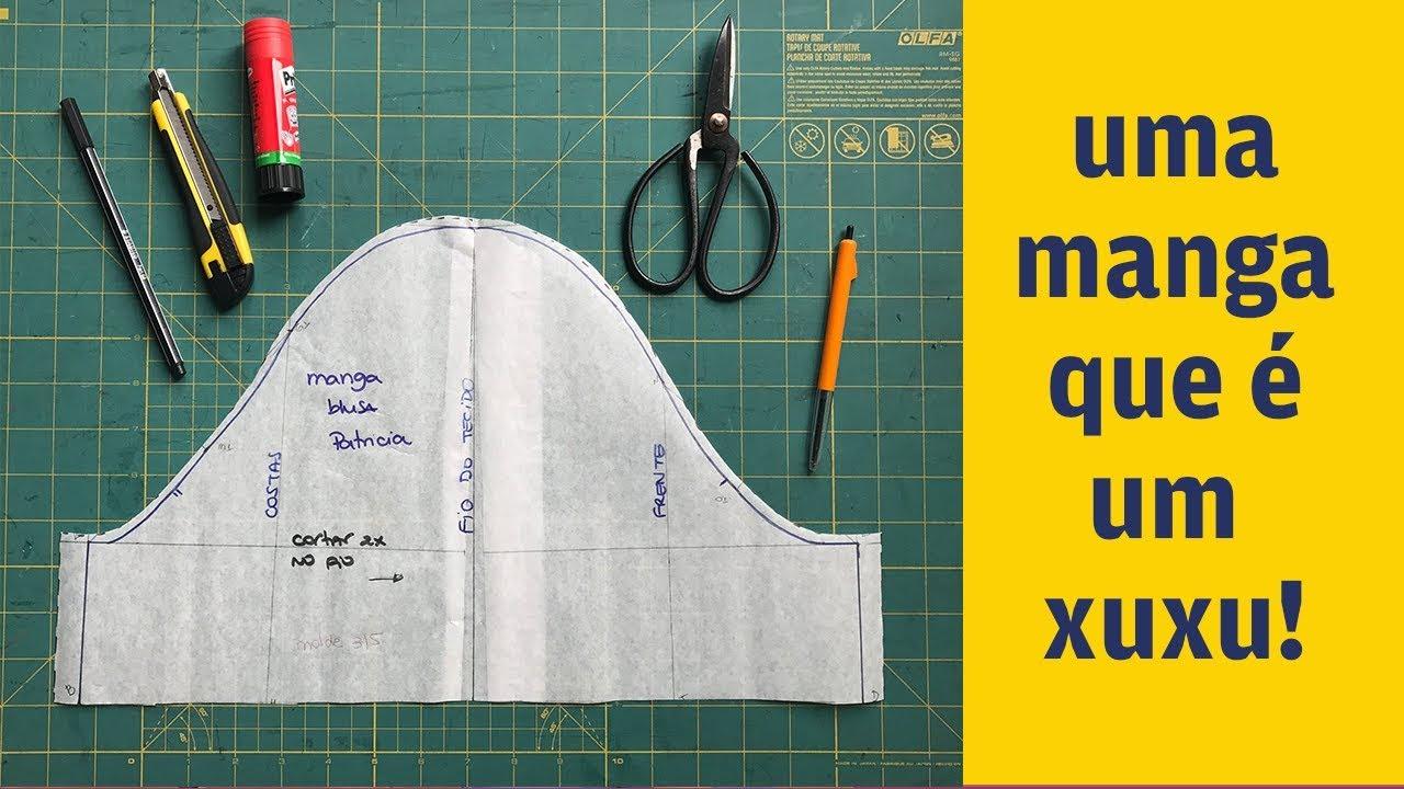 2b63346a37 Como fazer modelagem de manga para blusa feminina