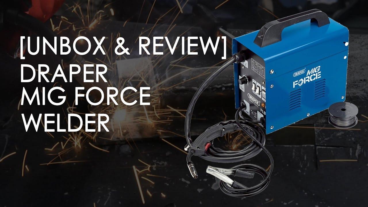 UNBOX & REVIEW] DRAPER TURBO 90AMP FLUX CORE MIG WELDER + MY SELF ...