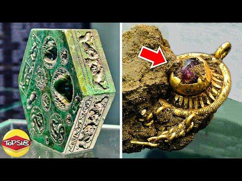 12 การค้นพบสมบัติและสิ่งประดิษฐ์โบราณที่เหลือเชื่อที่สุด (ทำได้ไง)