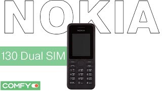 Nokia 130 Dual SIM - практичный телефон с поддержкой карт памяти - Видеодемонстрация от Comfy(Nokia 130 Dual SIM - мобильный телефон с мощной батареей, которая позволяет держать заряд до 26 дней. Возможность..., 2015-02-12T15:35:07.000Z)