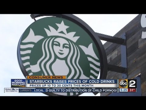 Starbucks raises prices of cold drinks