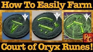 Destiny: How To Farm Runes For The Court of Oryx! (Reciprocal, Stolen, And Antiquated rune Farming)