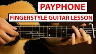 Maroon 5 - Payṗhone | Fingerstyle Guitar Lesson (Tutorial) How to Play Fingerstyle