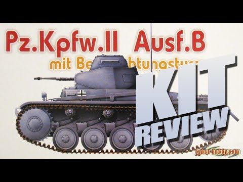 Kit Review: Cyber-Hobby 6295 Pz.Kpfw. II Ausf.B mit Beobachtungsturm in 1/35