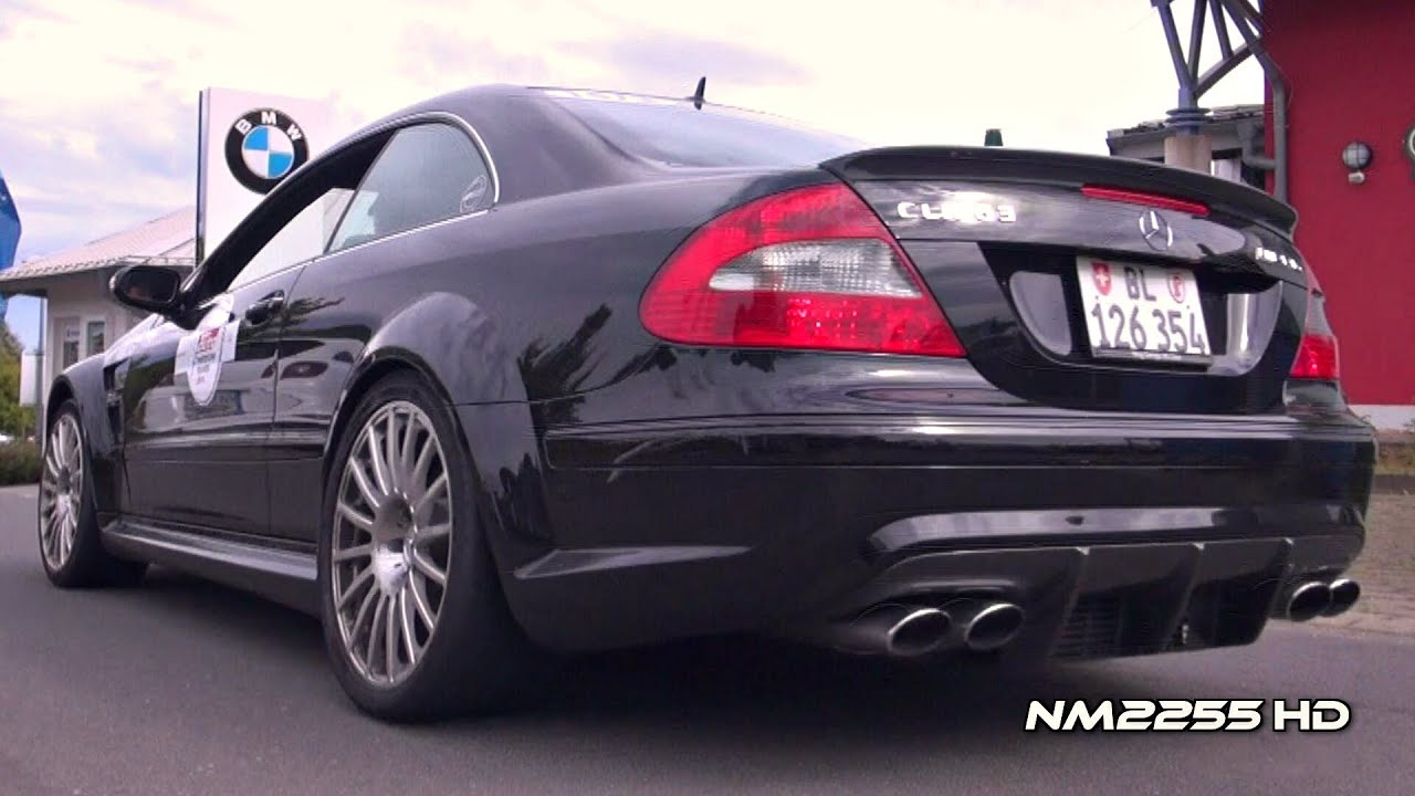 mercedes clk63 amg black series exhaust note youtube