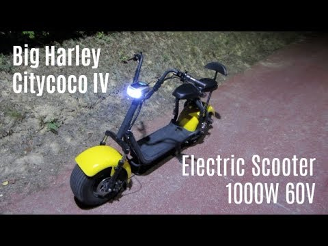 Big Harley Citycoco Iv Electric Scooter 1000w 60v Rental Car