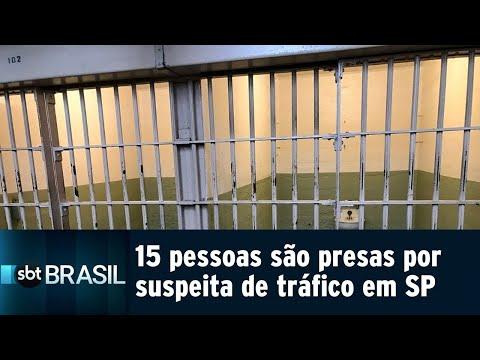 15 pessoas são presas por suspeita de tráfico de drogas em SP   SBT Brasil (23/08/18)