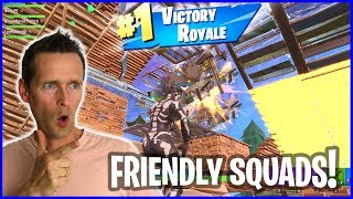 CHILLING WITH FRIENDS in a game of Fortnite Battle Royale SQUADS