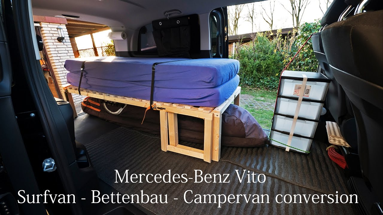 mercedes benz vito bus ausbau bettenbau surfvan vanlife. Black Bedroom Furniture Sets. Home Design Ideas