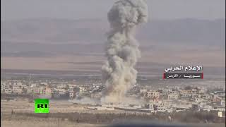 Syrian Army advancing in the Homs province with the help of Russian air cover