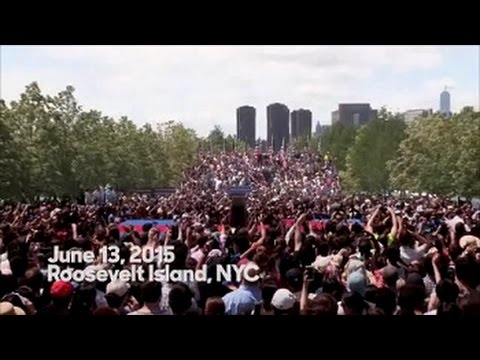 Hillary Clinton at Four Freedoms Park on Roosevelt Island