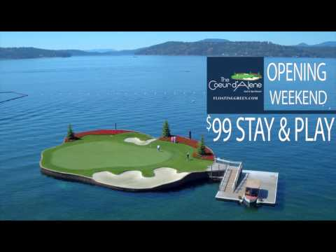 The Coeur d'Alene Resort Golf Course - Opening Day 2017 (April 1st)