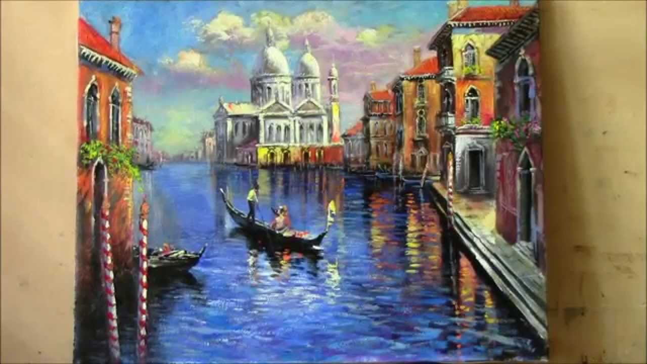 Venice view landscape painting youtube for The art of painting