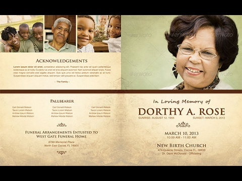 Funeral Brochure Templates Free - Youtube