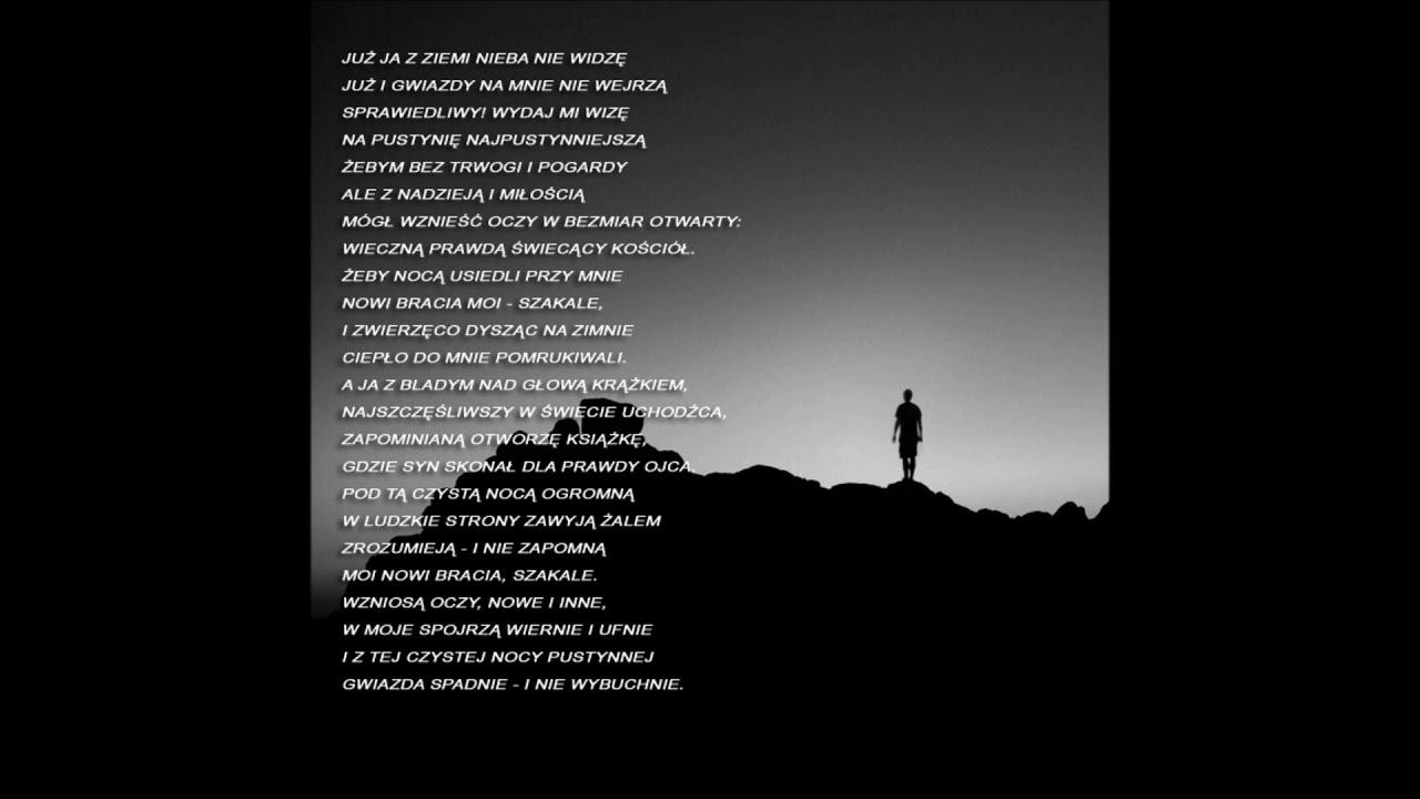 Julian Tuwim Prośba O Pustynię Poezja śpiewana