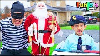 Policeman Jason and Christmas Santa Story