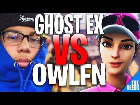 Ghost Ex 1 VS 1 OwlFN   Fortnite Creative 1v1 *PRO NA BUILD FIGHTS*