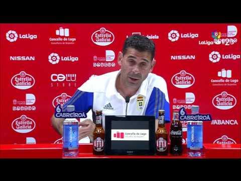 Rueda de prensa de Fernando Hierro tras el CD Lugo vs Real Oviedo (2-1)